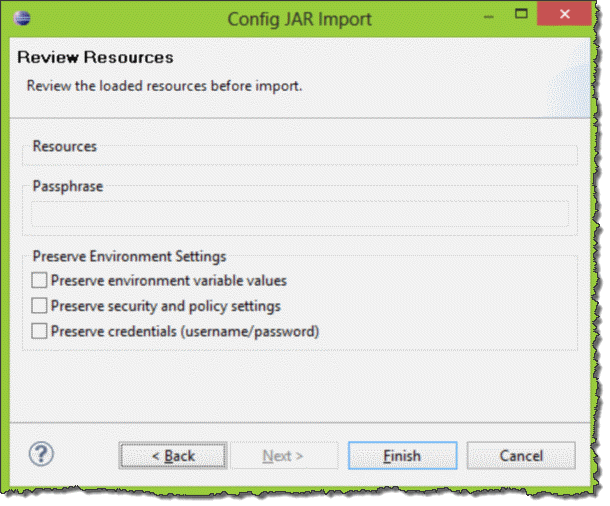 Completing importing JAR file